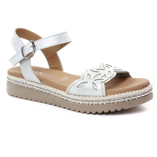 Nu Pieds Et Sandales Dorking Fresh D7778 Blanc, vue principale de la chaussure femme