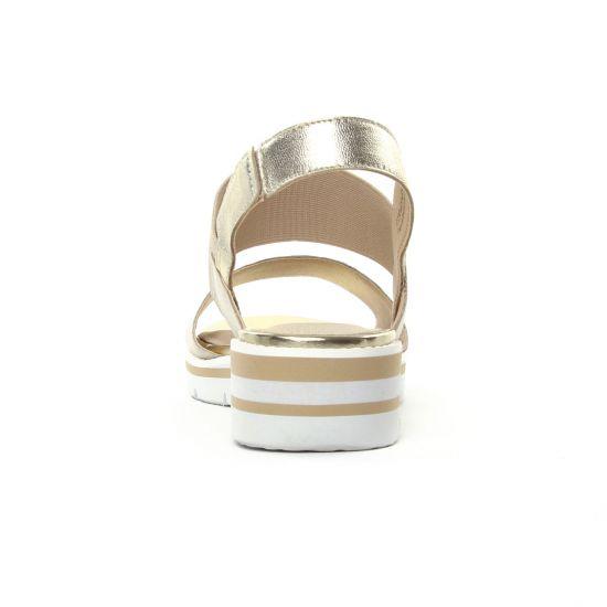 Caprice 28202 Lt Gold | sandale compensées beige doré