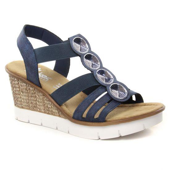 Nu Pieds Et Sandales Rieker 65515-14 Atlantic, vue principale de la chaussure femme