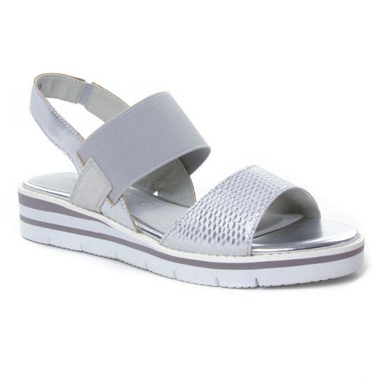 Nu Pieds Et Sandales Caprice 28202 Silver, vue principale de la chaussure femme