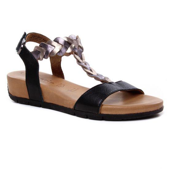 Chaussures de skate Baskets 2018 acheter authentique Tamaris 28231 Black | sandale compensées noir printemps été ...