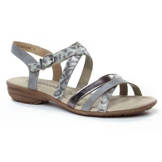 Nu Pieds Et Sandales Remonte R3631-91 Silver, vue principale de la chaussure femme