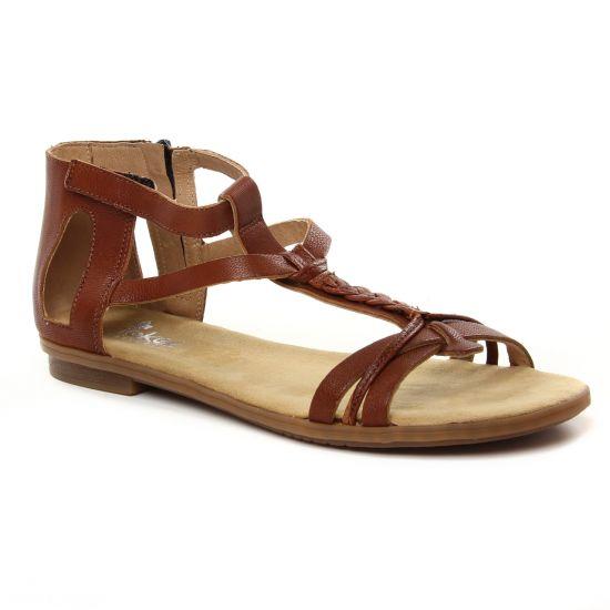 Nu Pieds Et Sandales Rieker 64225-24 Amaretto, vue principale de la chaussure femme