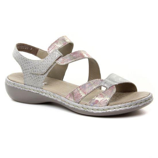 833fcac74ae42a Nu Pieds Et Sandales Rieker 65969-90 Multi Shark, vue principale de la  chaussure. sandales multicolore mode femme printemps été 2019 ...