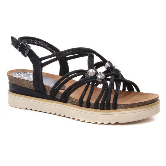 Nu Pieds Et Sandales Marco Tozzi 28505 Black Metal, vue principale de la chaussure femme