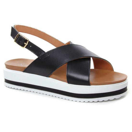 Nu Pieds Et Sandales Scarlatine 44377 A Noir, vue principale de la chaussure femme