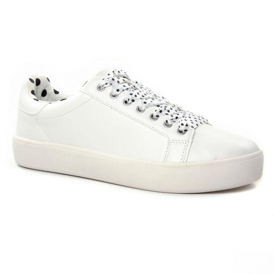 Tennis Et Baskets Mode Tamaris 23724 White Black, vue principale de la chaussure femme