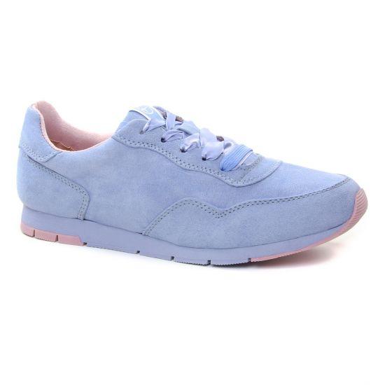 Tennis Et Baskets Mode Tamaris 23615 Bleu Ciel, vue principale de la chaussure femme