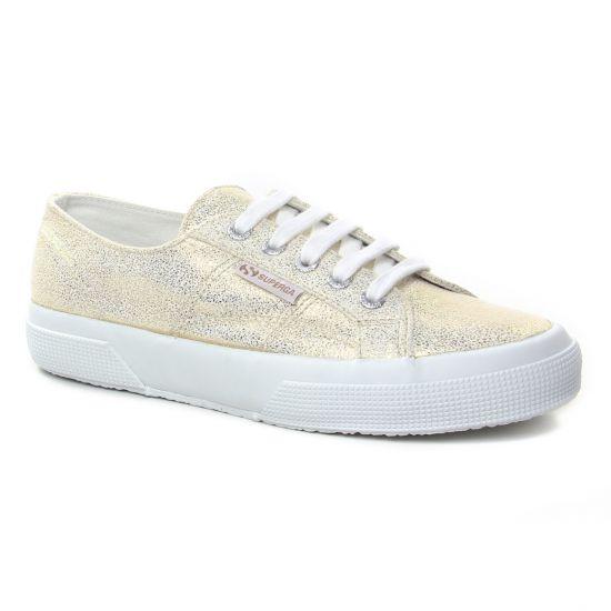 Tennis Et Baskets Mode Superga 2750 L White Yellow, vue principale de la chaussure femme