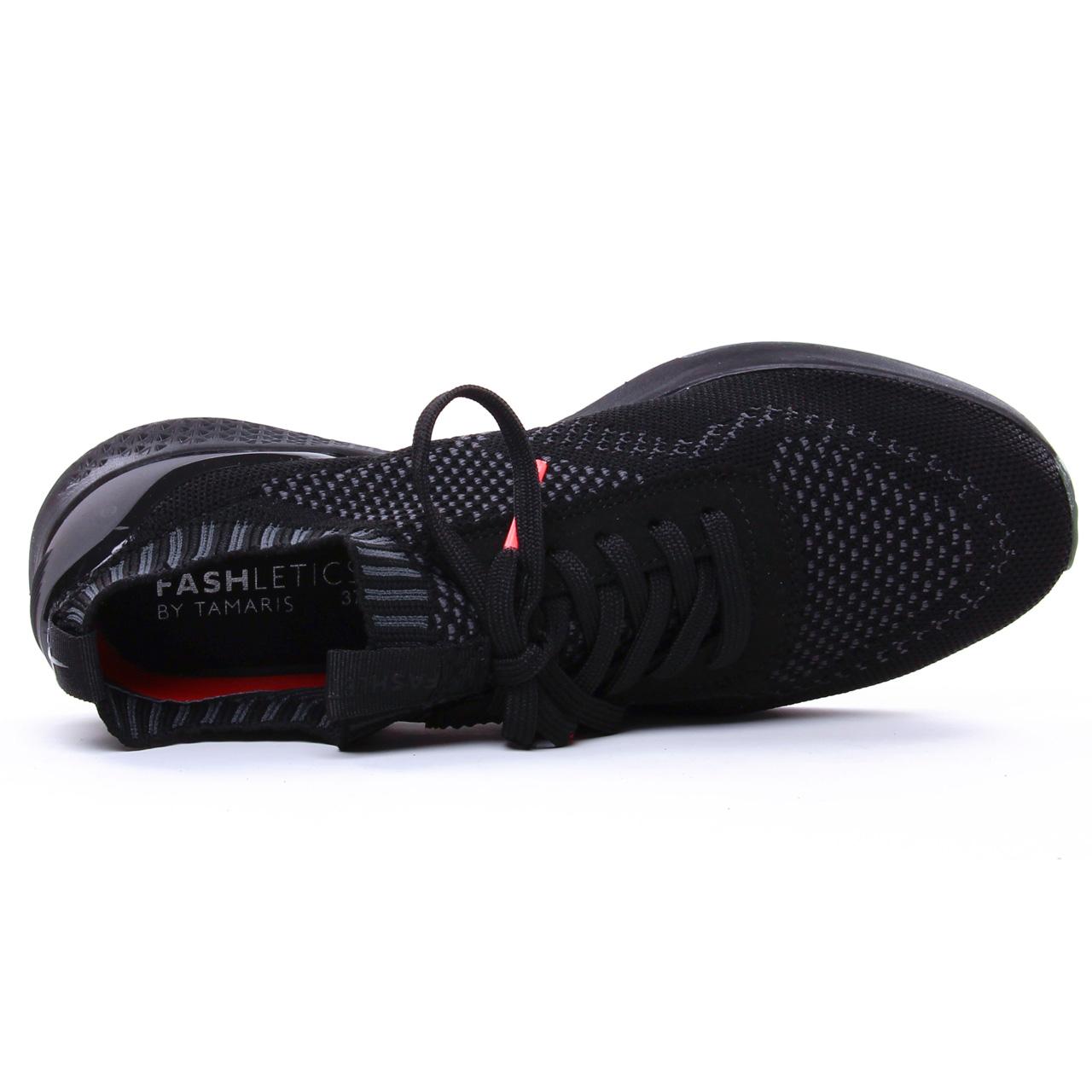 Tamaris 23714 Black Uni | basket mode noir printemps été