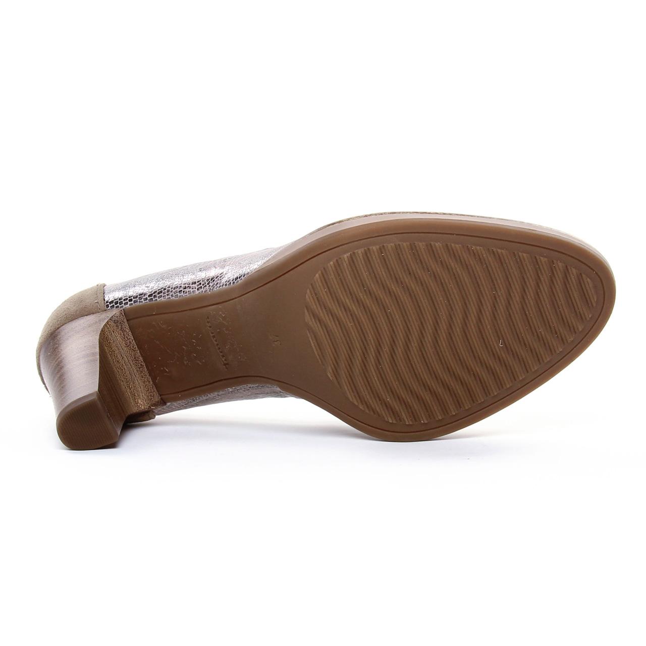 Tamaris 22425 Platinum Str | escarpin confort beige doré