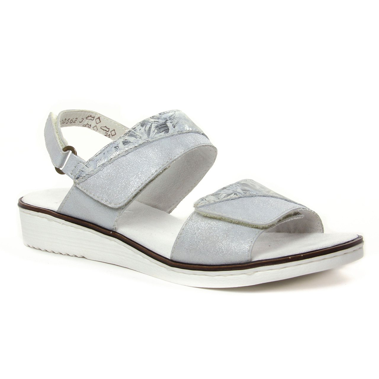 Rieker 636G9 80 Ice   sandales gris argent printemps été