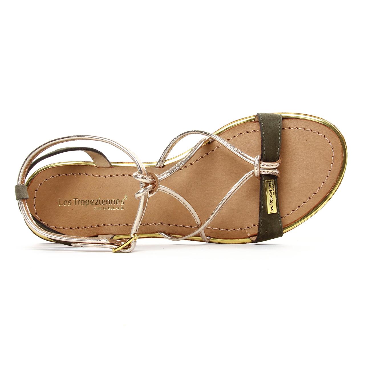 sandale tropezienne talon 4 cm