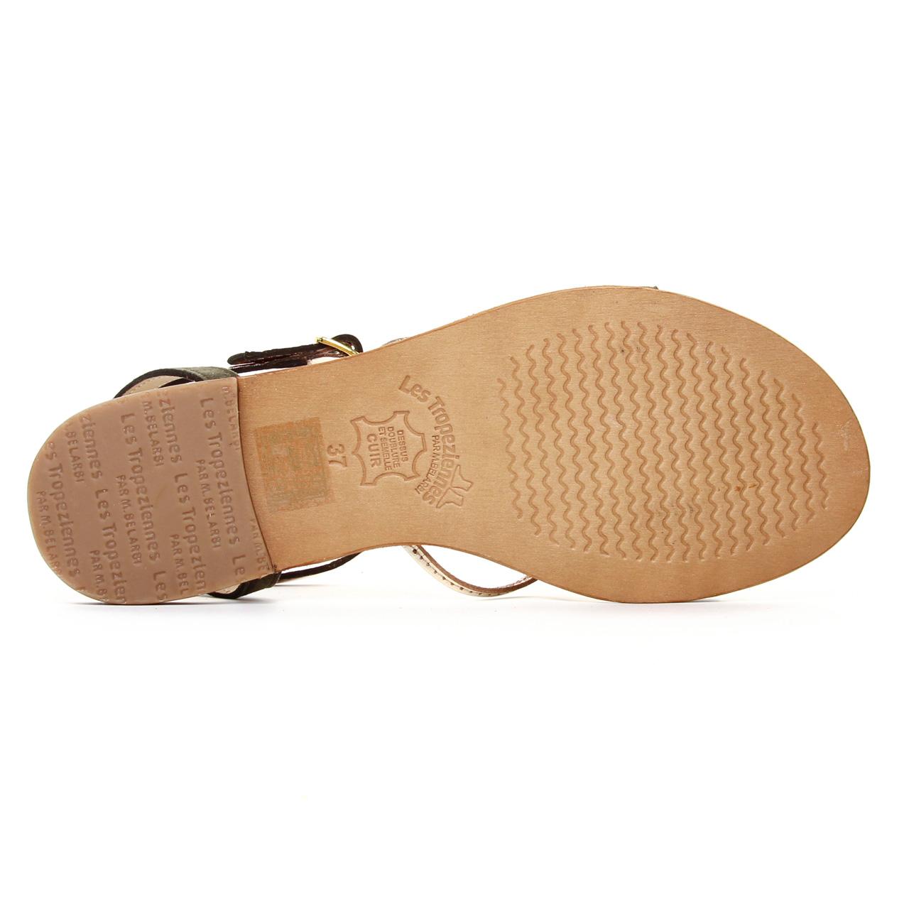 Les Tropeziennes Hironbuc Kaki | sandales vert kaki