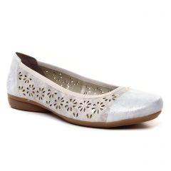 ballerines-confort beige argent: même style de chaussures en ligne pour femmes que les Tamaris