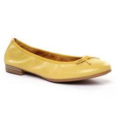 Chaussures femme été 2020 - ballerines confort tamaris jaune