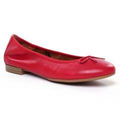 ballerines-confort rouge: même style de chaussures en ligne pour femmes que les Caprice