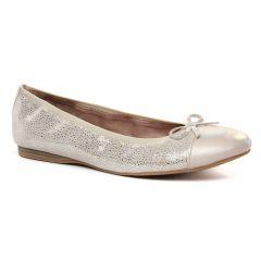 Chaussures femme été 2020 - ballerines tamaris gris argent