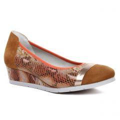 ballerines-talons-compenses marron multi: même style de chaussures en ligne pour femmes que les Tamaris