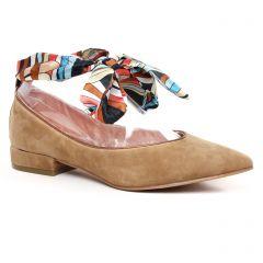 Chaussures femme été 2020 - ballerines Émilie Karston marron multi