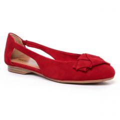 Chaussures femme été 2020 - ballerines confort tamaris rouge