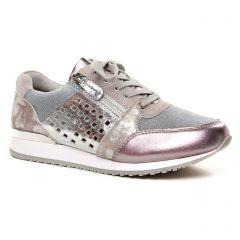 baskets-mode argent mauve: même style de chaussures en ligne pour femmes que les Tamaris