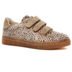 baskets-mode beige leopard: même style de chaussures en ligne pour femmes que les Tamaris