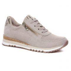Chaussures femme été 2020 - baskets mode marco tozzi beige