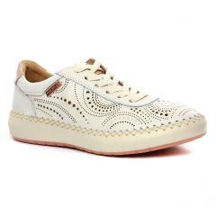 Chaussures femme été 2020 - baskets mode Pikolinos blanc cassé