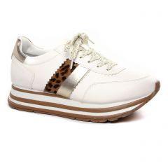 baskets-mode blanc léopard: même style de chaussures en ligne pour femmes que les Vanessa Wu