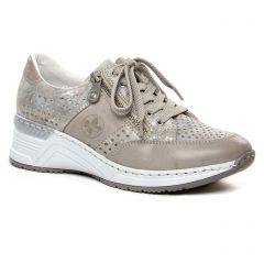 baskets-mode gris argent: même style de chaussures en ligne pour femmes que les Rieker