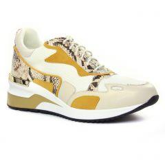 Chaussures femme été 2020 - baskets mode Mamzelle jaune blanc