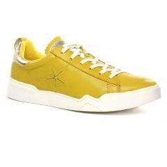 Chaussures femme été 2020 - baskets mode tamaris jaune moutarde