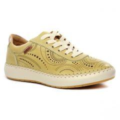 Chaussures femme été 2020 - baskets mode Pikolinos jaune