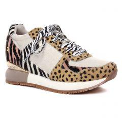 baskets-plateforme multicolore: même style de chaussures en ligne pour femmes que les Gioseppo