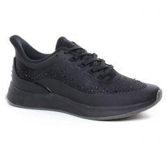 Chaussures femme été 2020 - baskets mode tamaris noir