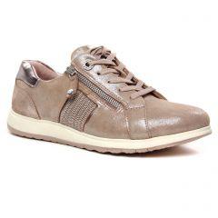 Chaussures femme été 2020 - baskets mode tamaris rose bronze