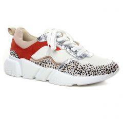 baskets-mode rouge blanc: même style de chaussures en ligne pour femmes que les Tamaris