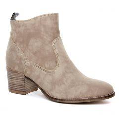 boots-ete beige taupe: même style de chaussures en ligne pour femmes que les Tamaris