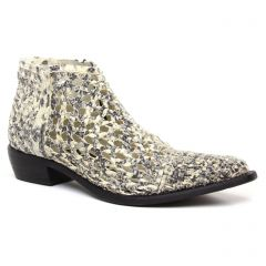 boots-ete blanc crème gris: même style de chaussures en ligne pour femmes que les Gioseppo