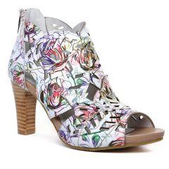 boots-ete blanc multi: même style de chaussures en ligne pour femmes que les Laura Vita