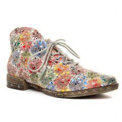 Chaussures femme été 2020 - bottines à lacets rieker multicolore
