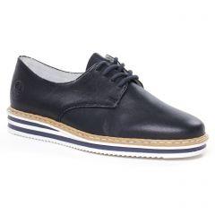 derbys-talons-compenses bleu marine: même style de chaussures en ligne pour femmes que les Rieker