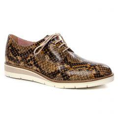 derbys-talons-compenses marron python: même style de chaussures en ligne pour femmes que les Tamaris