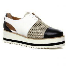 derbys-talons-compenses noir blanc: même style de chaussures en ligne pour femmes que les Scarlatine
