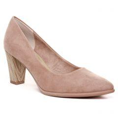 Chaussures femme été 2020 - escarpins marco tozzi beige rose