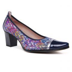 Chaussures femme été 2020 - escarpins Dorking bleu multi