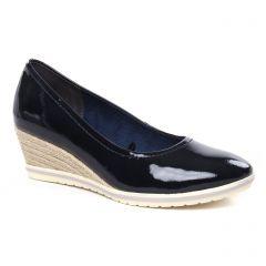 escarpins-talons-compenses bleu vernis: même style de chaussures en ligne pour femmes que les Tamaris