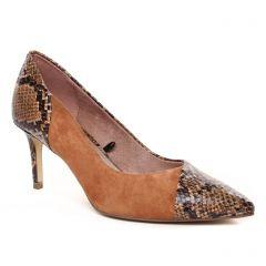 escarpins marron python: même style de chaussures en ligne pour femmes que les Tamaris