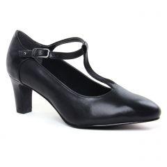 Chaussures femme été 2020 - escarpins salomé tamaris noir